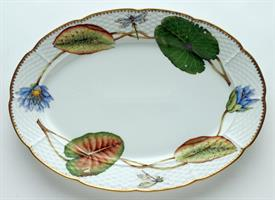 "-14"" OVAL PLATTER WITH LILY PADS."
