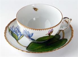 ,-WATERLILY TEA CUP & SAUCER