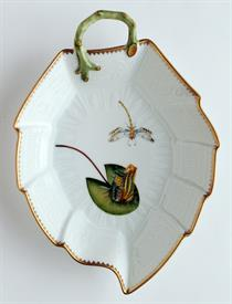 -LEAF DISH WITH FROG. 9""