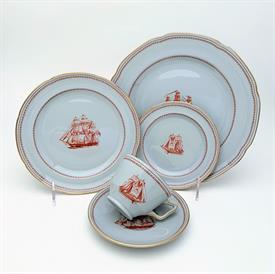 ,28P BLUE ROCK BY SHELLEY. DAINTY SHAPE. INCLUDES 4 5-PIECE PLACE SETTINGS, 4 FRUIT BOWLS, & 4 CEREAL BOWLS
