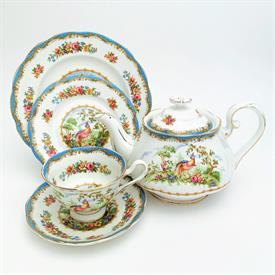 ,54P AMHERST BY WEDGWOOD. INCLUDES 10 5 PIECE PLACE SETTINGS & ONE EACH PLATTER, VEGGIE BOWL, CREAMER, & SUGAR BOWL