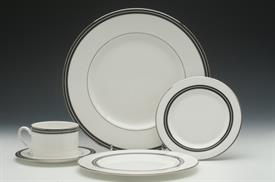 ",64P UNION STREET BY KATE SPADE. 12EA  5PC PLACE SETTINGS, ROUND VEGETABLE BOWL, 13"" PLATTER, CREAMER AND SUGAR BOWL. (MSRP $2300)"