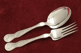,ALL SILVER SALAD SET AMERICAN GARDEN BY TIFFANY STERLING SILVER 2 PIECE SET