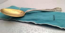 ",VEGETABLE SPOON 9"" GOLD WASH BOWL MULTI MOTIF 6.7 TROY OZ."