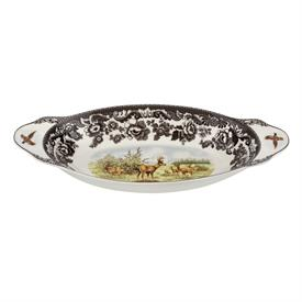 """_MULE DEER 15.25""""L X 7""""W BREAD TRAY. MSRP $139. MICROWAVE, DISHWASHER, FREEZER AND OVEN SAFE. #1673618"""