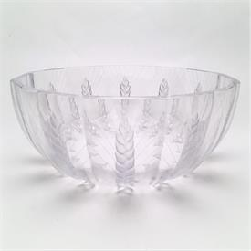 ",CERES WHEAT PATTERN BOWL. 8.2"" WIDE, 3.75"" TALL. DESIGNED BY MARC LALIQUE IN THE 1970'S. PRODUCED THROUGH THE 1990'S."