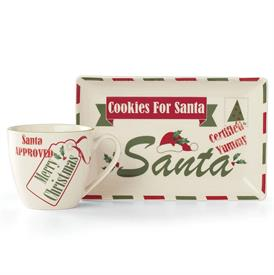 _:2-PIECE LETTERS TO SANTA HOLIDAY MUG & COOKIE PLATE. MSRP $60.00