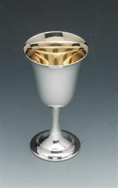 """,.LORD SAYBROOK GOBLETS #11950/1 STERLING SILVER GOBLETS 5.55 TROY OUNCES 6.75"""" TALL MATTE/DULL FINISHED GOLD WASHED BOWLS"""