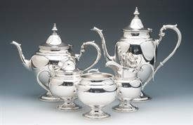 ",Gorham Puritan 5 Piece Tea & Coffee Set Sterling Silver Contains 69.05 troy ounces Condition a 9 out of 10 Coffee Pot 10""H Tea Pot 8.25""H"