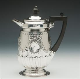"ENGLISH STERLING COFFEE SERVING JUG 14.80 TROY OUNCES 7.75"" HEIGHT"
