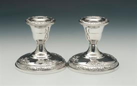 ",FISCHER STERLING CANDLESTICKS PAIR 3.5"" TALL"
