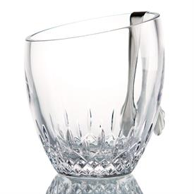 """,-ANGLED TOP ICE BUCKET WITH TONGS. 7.5"""" TALL"""