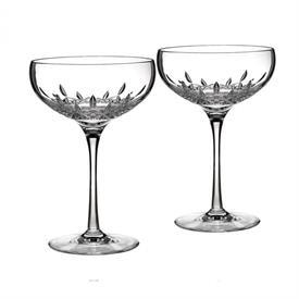 -SET OF 2 SAUCER CHAMPAGNE GLASSES
