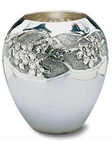 -E4APPLE BL VASE 4.75""