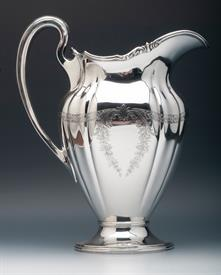 ",Gorham 8-1/4 pint capacity Extra Large Water or Lemonaide Pitcher Sterling Silver Weight 39.4 troy ounces 9.5"" tall"