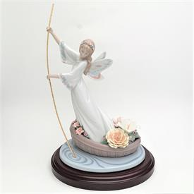 ",1321 'ANGEL WITH LYRE' FIGURINE. CA. 1976-1985. 12.1"" TALL"