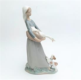 ",4866 'GIRL WITH GOOSE & DOG' FIGURINE WITH ORIGINAL BOX. 10.75"" TALL, 5.75"" LONG, 2.6"" WIDE"