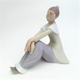 ",8155 'REFLECTIVE PIERROT' GIRL FIGURINE IN MATTE. 7.5"" TALL, 5.5"" WIDE, 7.75"" LONG"