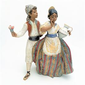 ",2239 GRES 'VALENCIAN COURTSHIP' FIGURINE WITH ORIGINAL BOX. RARE. 12"" TALL, 9"" WIDE, 6"" LONG"