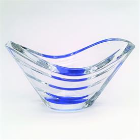 ",BLUE WAVE BOWL. 4.5"" TALL, 8.3"" LONG, 5.25"" WIDE"