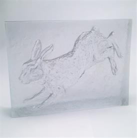",1977 HARE, LIEVRE, SCULPTURE. LIMITED EDITION #42/60. COMES W/ CERTIFICATE OF AUTHENTICITY. 10.5""TALL x 14"" WIDE."