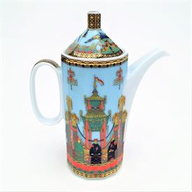 ",LE VOYAGE DE MARCO POLO MINIATURE COFFEE POT. 4"" TALL, 2 OUNCE CAPACITY"