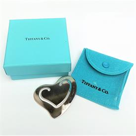 ",ELSA PERETTI STERLING SILVER HEART BOOKMARK WITH TIFFANY & CO. BAG & BOX. 2.1"" WIDE, .3 OZT"