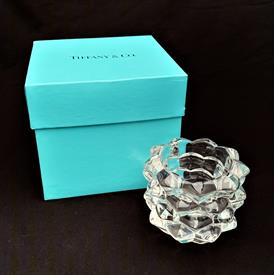 ",PINECONE CRYSTAL VOTIVE WITH ORIGINAL TIFFANY & CO. BOX. 2.75"" TALL, 3.25"" WIDE."