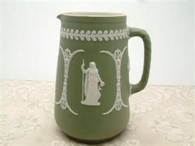 "8""GREEN/WHITE PITCHER"