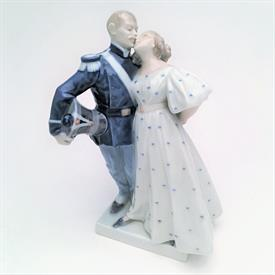 ,'SOLDIER & PRINCESS' #1180 FIGURINE BY CHRISTEN THOMSEN. DESIGNED IN 1909. FACTORY 2ND (CHIP ON BASE NEAR MARK)