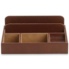 "-LZ033B JAMES VALET CASE IN BROWN FAUX SUEDE. 12"" LONG, 9"" WIDE, 4"" TALL"