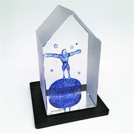 """,'ON TOP' #99518 FROM THE VIEWPOINTS COLLECTION BY BERTIL VALLIEN. COMES WITH STAND. 5.5"""" TALL, 3"""" WIDE"""