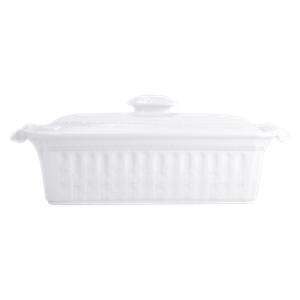 """-RECTANGULAR TERRINE WITH COVER. 14"""" WIDE, 5"""" TALL"""