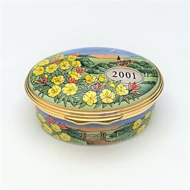 ",RETIRED 'I WILL ALWAYS LOVE YOU' FLORAL MOTIF BOX. 1"" TALL, 2.1"" LONG, 1.75"" WIDE"