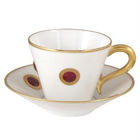 -SET OF 2 MOROCCAN RED COFFEE CUPS & SAUCERS