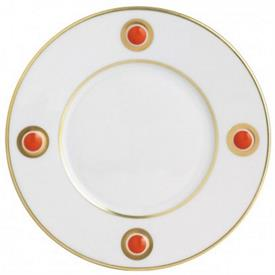-ORANGE ACCENT SALAD PLATE