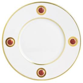 -RED ACCENT SALAD PLATE.