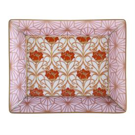 """_,ABFAB ROSE VALET TRAY. 7.9"""" LONG, 6.3"""" WIDE."""