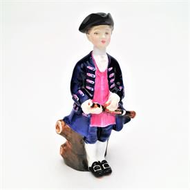 ",HN2183 'BOY FROM WILLIAMSBURG' FIGURINE. CA. 1969-1983. 5.5"" TALL"