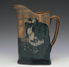 ",MONKS IN THE CELLAR JUG / PITCHER. 7.25"" TO TOP OF LIP. #HN46662. CIRCA 1906. HAIRLINE CRACK DOWN BACK."