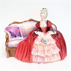 ",HN1997 'BELLE O'THE BALL' FIGURINE. RETIRED. 6.1"" TALL, 8.4"" LONG"