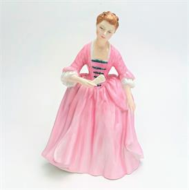 ",HN2209 'A HOSTESS OF WILLIAMSBURG' FIGURUINE. RETIRED. 7.25"" TALL"