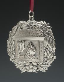 """,1994 FIREPLACE ORNAMENT STERLING SILVER BY BUCCELLATI 3.25"""""""