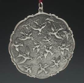 """,2003 DOVES ORNAMENT BY BUCCELLATI STERLING SILVER 4"""" DIAMETER - GORGEOUS!"""