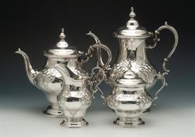 ,.4PC.TEASET 1000 SERIES INCLUDES COFFEE POT, TEA POT, CREAMER, SUGAR WEIGHS 75.5 TROY OUNCES