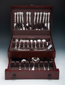 ,.79 Piece Set of Chantilly Sterling Silver Flatware by Gorham Service for 12 which includes a brand new high quality silver chest