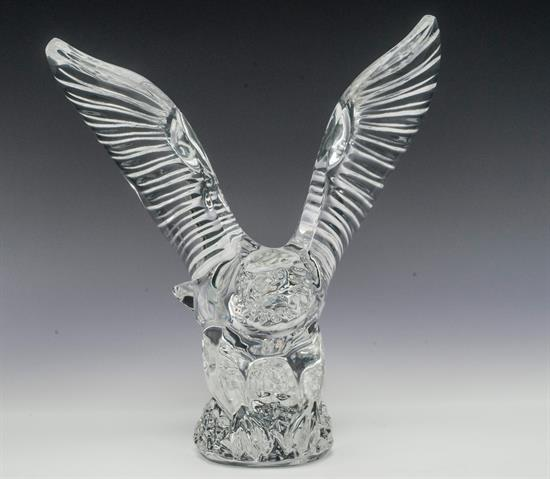 "Waterford ,EAGLE IN FLIGHT. 6.75"" TALL"