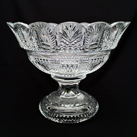 """,""""DES STUDIO SOLEIL"""" #128024 CENTERPIECE BOWL BY FRED CURTIS 7/250 ENGRAVED """"AUDREY MAY 29, 2006"""" 11""""TX6""""X13""""D 7"""" FOOTED BASE.FEW NIBBLES"""