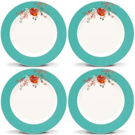 "-SET OF 4 6"" DESSERT PLATES. MSRP $72.00"