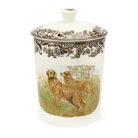 "-MEDIUM 8"" CANISTER, GOLDEN RETRIEVER"